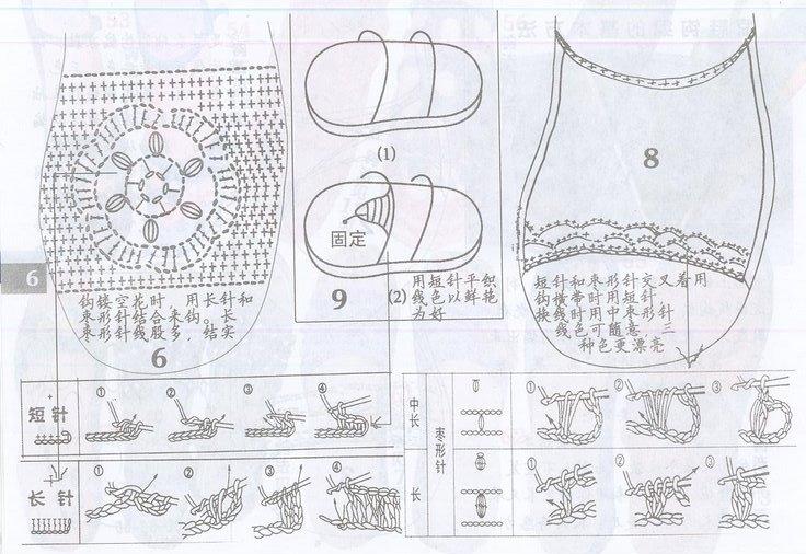 Схемы вязания обуви на подошве 429