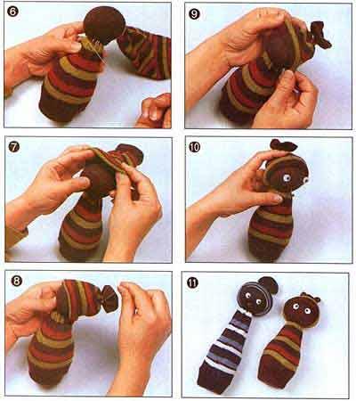 Как сделать кукол своими руками из носка