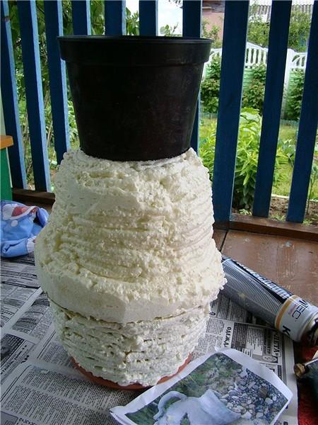 Садовая ваза своими руками мастер класс 80