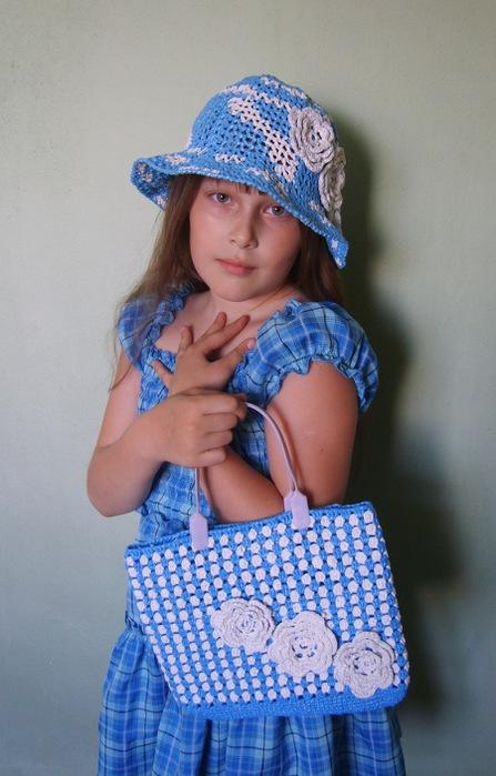 Вязание шляпы из пакетов 177