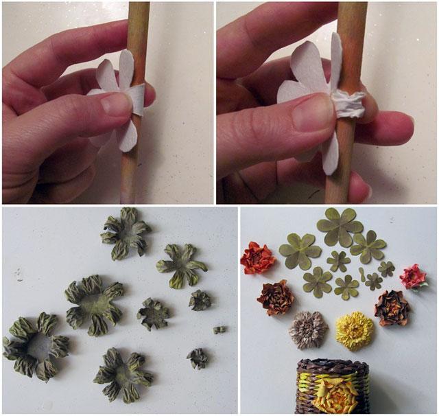 Как сделать цветы из акварельной бумаги мастер класс