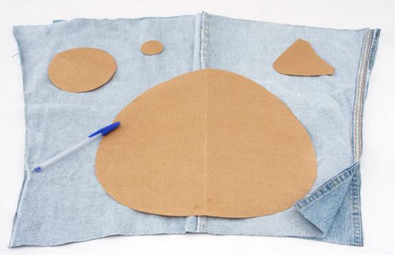 Подушки из джинсы выкройки