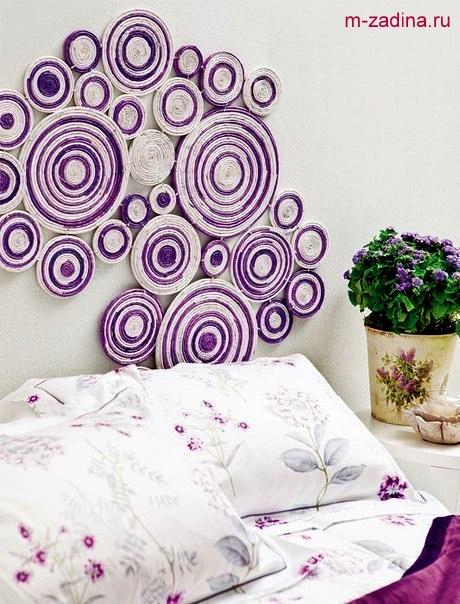 Украшение на стену своими руками из бумаги: красивые помпоны и гирлянды 12