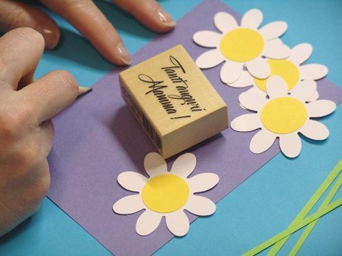 Как сделать маме открытку своими руками на 8 марта
